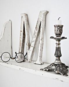 alphabet letter-pallet of whites silver