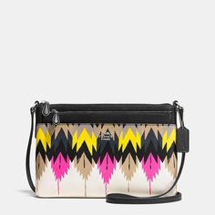 Swingpack with Pop-Up Pouch in Printed Crossgrain Leather #Coach #Purses