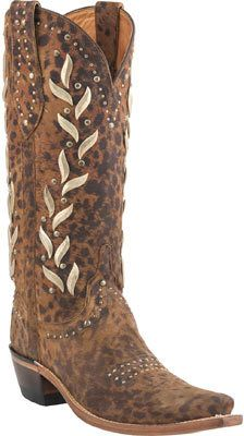 Women's Lucchese Since 1883 M4622. S54 Stud Spring Snip Toe Cowboy Heel Boot