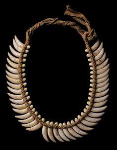 Oceanic animal teeth necklace