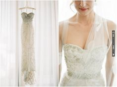 Wedding Dress Of The Week: Sparkly Monique Lhuillier | CHECK OUT MORE IDEAS AT WEDDINGPINS.NET | #weddings #weddinginspiration #inspirational