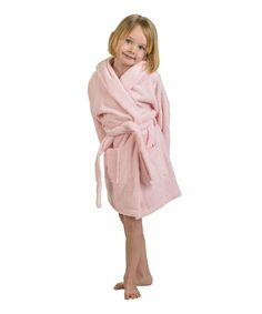 Home City Pink Long Staple Combed Cotton Hooded Bath Robe - Kids 17222bd4f