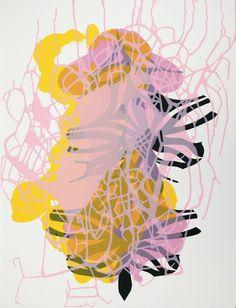 transistoradio:  Janaina Tschäpe (b.1973), Spilling Memory 55 (2014), silkscreen on paper Via Artsy.