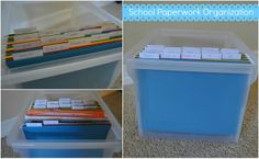The Francis Family: school paperwork organization