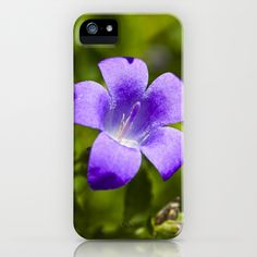 Purple Campanula flower iPhone Case by SteveHphotos - $35.00