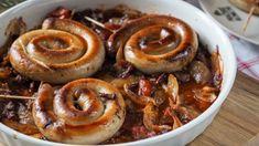 Kielbasa, Pork Recipes, Shrimp, Sausage, Food And Drink, Menu, Fresh, Cooking, Christmas