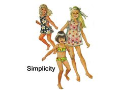 1960s Girls Two Piece Bathing Suit & Cover up Vintage Sewing Pattern Size 12 Simplicity 8272 2 piece bikini swim suit Beach Apron Top Shorts on Etsy, $12.00