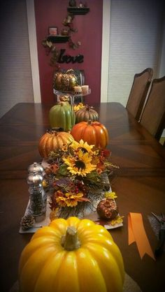 A few of my favorite things, in my table scape, as I work on a pumpkin