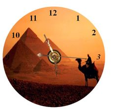 Pyramids CD Clock  Can Personalize Send Pic Great Gift