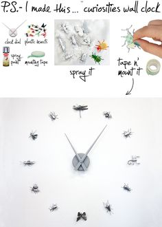 Curiosities wall clock - from Ps. I made this...