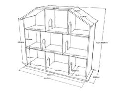 Кукольный домик схема с размерами