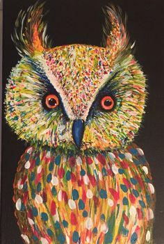 Acrylic owl on canvas