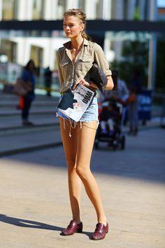 Irina Kulikova #streetstyle #fashion #modeloffduty