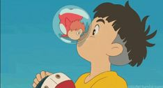 Ponyo kisses Sosuke and turns into a human forever ^_^ So cute!