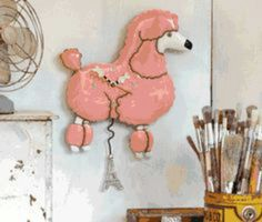 New Poodle clock on my Facebook page, Michelle Allen Wall Clocks.