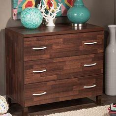 Jane.com - Wholesale Interiors Inc Oak Brown 3-Drawer Storage Chest / Free Shipping - AdoreWe.com