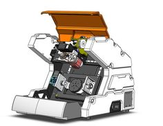 5-AXIS Desktop CNC Machining(CONCEPT MODEL) - STEP / IGES,STL,SOLIDWORKS,Rhino - 3D CAD model - GrabCAD Small Cnc Machine, Cnc Lathe Machine, Machine Tools, Cnc Router Plans, Diy Cnc Router, Cnc Spindle, Desktop Cnc, 5 Axis Cnc, Arduino Cnc
