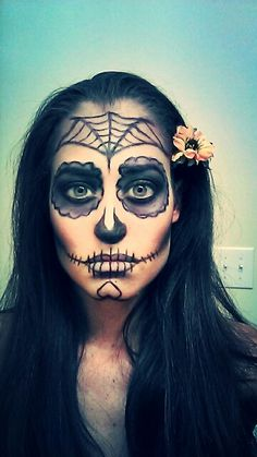 My Practice run. Day of the dead makeup.
