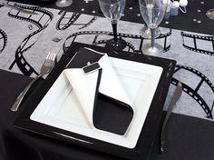Wedding Reception Decorations, Wedding Table, Napkin Folding, Linen Napkins, Boy Birthday, Origami, Art Deco, Black And White, Black Tie