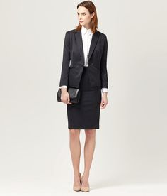 Prince of Wales Check Skirt Suit   Women s Suits   Austin Reed Jupes  Classiques, Tailleur f1b6c65b812f