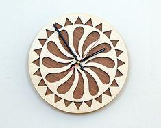 Wooden Wall Clocks | 12'' Wooden Wall Clock / Ho me Decor / Housewares / Clock ...