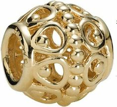 """18k Gold on 925 Sterling Silver European Style """"Guilded Cage"""" Charm Beads for Pandora, Biagi, Chamilia, Troll and More Bracelets general gifts. $24.99. Color: Silver with 18K gold. 18K gold plated 925 Sterling Silver. Quantity: 1pc. Suitable for 3mm Cable Pandora and other European Charm Bracelets. Hole Size: 4.5mm Weight: 2.7 grams"""