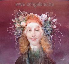 SZÁSZ ENDRE. Flóra. Nap, Klimt, Hungary, New York, Crown, Pintura, New York City, Crowns, Corona