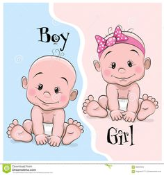 Baby Boy And Girl - Download From Over 51 Million High Quality Stock Photos, Images, Vectors. Sign up for FREE today. Image: 66837694