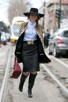 Attendees at Milan Fashion Week Fall 2015 - Street Fashion