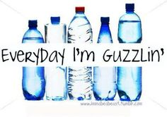 DRINK MORE H2O....and pee all day long...