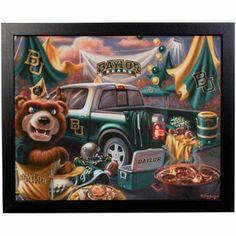 #Baylor Bears Framed Dona Gelsinger Tailgate Image // #SicEm