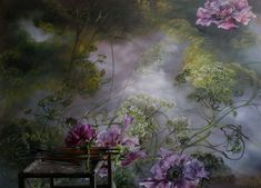 PAINTING – Claire BASLER Artist Painting, Painting Prints, Floral Paintings, French Artists, Paint Designs, Botanical Art, Garden Art, Decoration, Abstract Art
