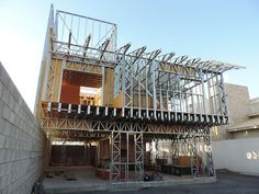 O que é Light Steel Frame? - Dica da Arquiteta 10 things you should have know before you started the project Steel Frame House, A Frame House, Steel House, Metal Stud Framing, Steel Framing, Steel Frame Construction, New Home Construction, Modular Structure, Metal Structure