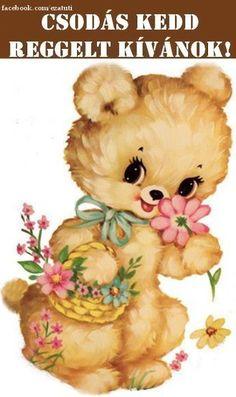 Bambi, Teddy Bear, Humor, Animals, Thread Art, Good Morning, Animales, Animaux, Humour