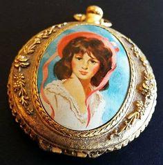 Vintage Necklace Pendant Ladies Compact by BrightgemsTreasures, $24.50