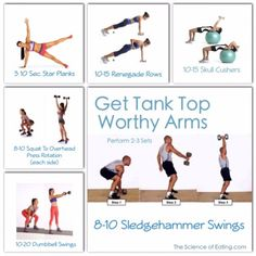 Workout Get Tank Top Worthy Arms