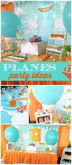 Check out this Disney Planes party! Great color scheme! See more party ideas at CatchMyParty.com!
