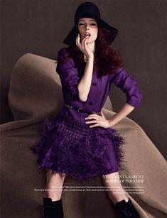 """The Shock Of The New"" | Model: Coco Rocha, Photographer: Matthias Vriens-McGrath, Elle UK, August 2011"