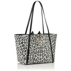 MINI FELINE SHOPPER (12.630.870 IDR) ❤ liked on Polyvore featuring bags, handbags, tote bags, shopping tote bags, handbags totes, purse tote, mini tote bags and hand bags