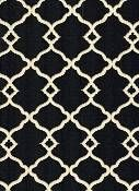 Black and White Outdoor Fabric - Chippendale Fretwork Outdoor Onyx
