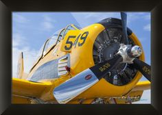 """""""North American T Trojan"""" by Mark E Loper, Folsom, CA // North American T-28 Trojan // Imagekind.com -- Buy stunning fine art prints, framed prints and canvas prints directly from independent working artists and photographers."""