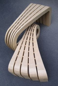 BENCH IN #CARDBOARD BY TONKR - LORYN by  CHRISTOPHE FLAHAUT #stylepark #papermade