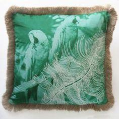 Macaw Emerald Accent Cushion