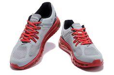 4741dc273cd1 Discount Nike Air Max 2015 Mesh Cloth Men Sports Shoes - Gray Red QE183062