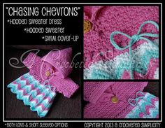 """Crochet Pattern: """"Chasing Chevrons"""" Hooded Sweater / Swim Cover-Up / Dress by ACrochetedSimplicity, $6.99"""