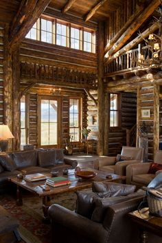 Log home Interior of R-R Ranch - #architecture