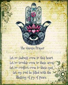 """Mantras can quiet the mind, promote empathy, and experience inners illness and """"God"""". 8 Mystical Meditation Mantras That Will Raise Your Consciousness. Hamsa Prayer, Prayer Tattoo, Affirmations, Les Chakras, Religion, Book Of Shadows, Belle Photo, Law Of Attraction, Inspirational Quotes"""