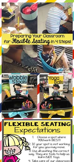 Everything you need to implement flexible seating in your classroom can be found here. Editable version also included.