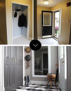 Before & After: Sabrina's Front Foyer   Design*Sponge