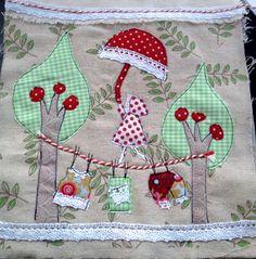 Fabric collage - Het Olijke Huis - Handmade by Nicolene Scott